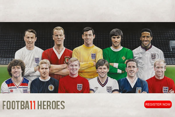 Royal Mail Home Nations Football Heroes Stamps