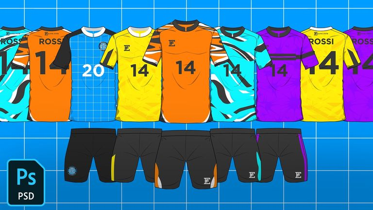 2D Football/Soccer Jersey Template Mock-Up FREE