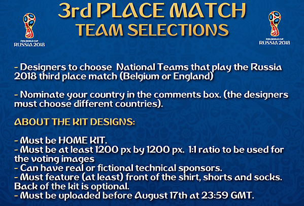 [3rd place match] Team Selections
