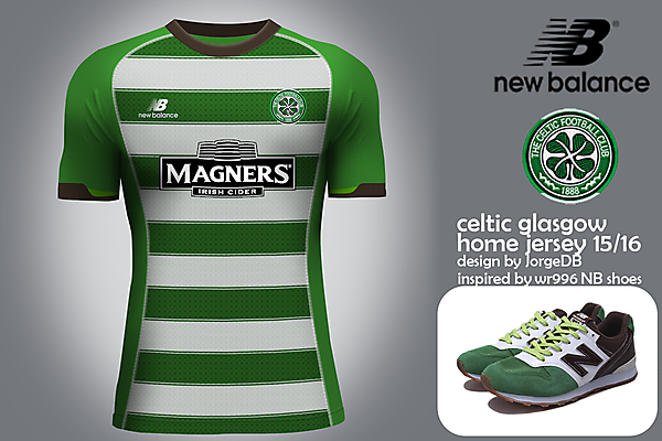 Celtic Glasgow New Balance home jersey