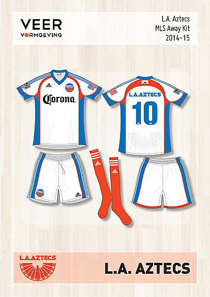 L.A. Aztecs Away kit 2014-2015
