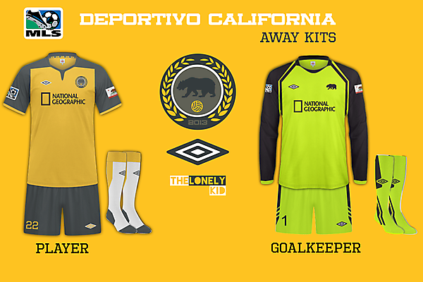 Deportivo California Away Shirts