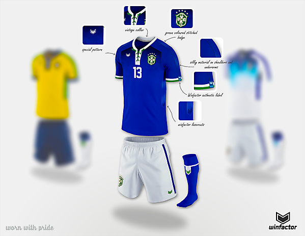 Brazil away kit - Copa América Design Football