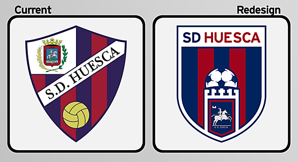 SD Huesca Crest Redesign
