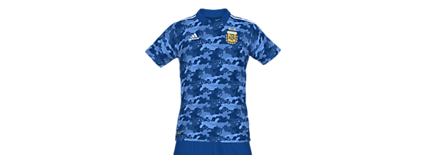Argentina National Team Fantasy Away Kit (In Memory Of Diego Maradona)