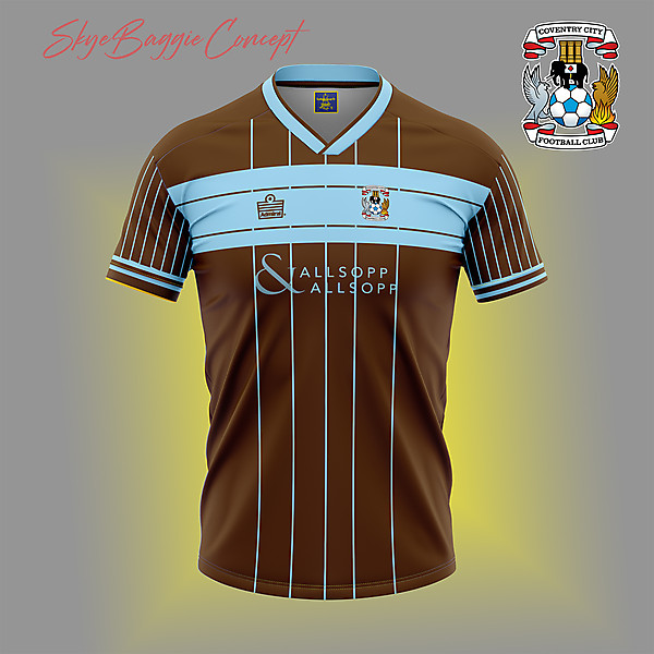 Coventry City Chocolate retro concept