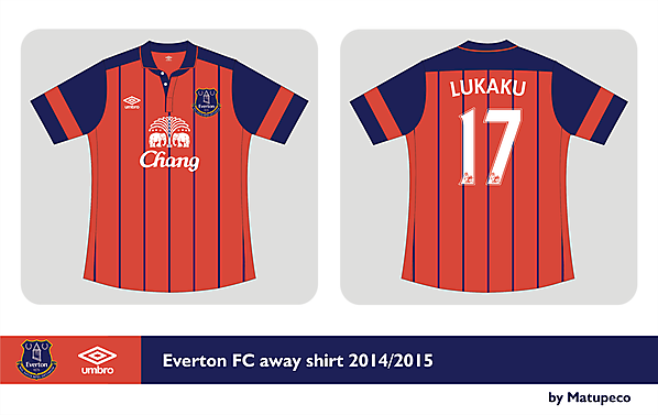 Everton FC away kit Umbro 2014/2015  - Prediction