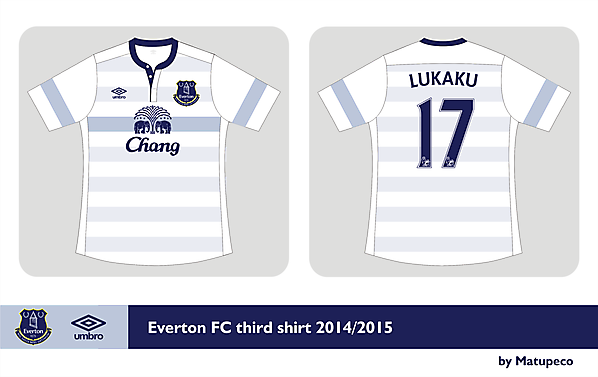 Everton FC third kit Umbro 2014/2015  - Prediction