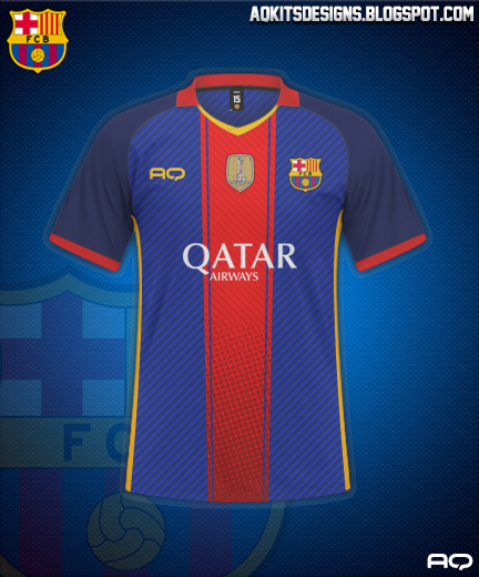 FC Barcelona Home  Kit Design By AQ