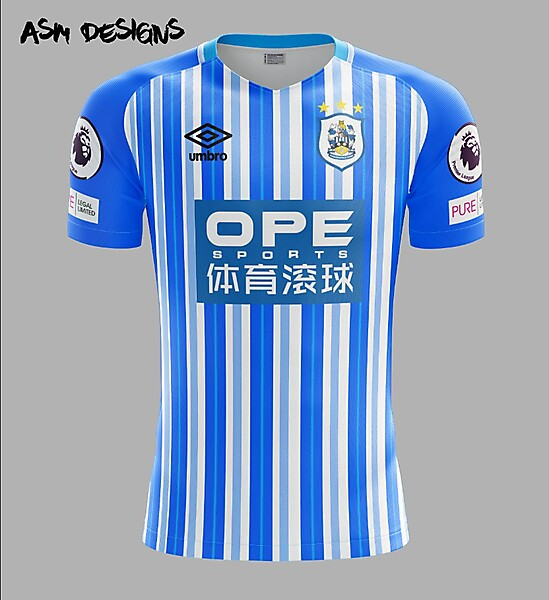 Huddersfield Town A.F.C. Umbro 2018 Home Kit