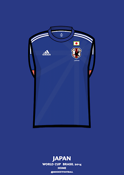 Japan home shirt Brasil 2014.