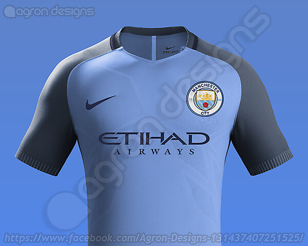 Nike Manchester City Home Kit 2016-17 based on leaked images