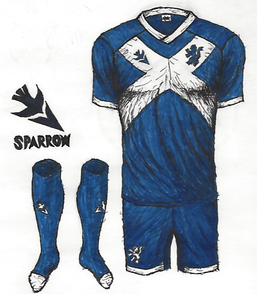 Scotland Home Kit (Inspired by Irving Perceni)