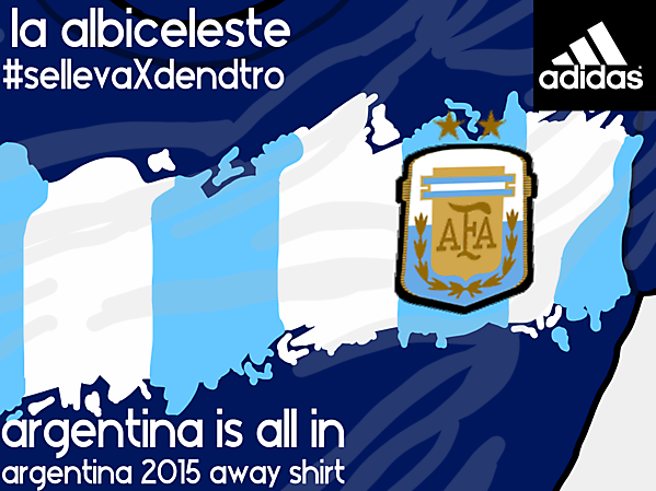 Argentina 2015 away shirt concept (zoom) #SeLlevaXDentro (It's inside)