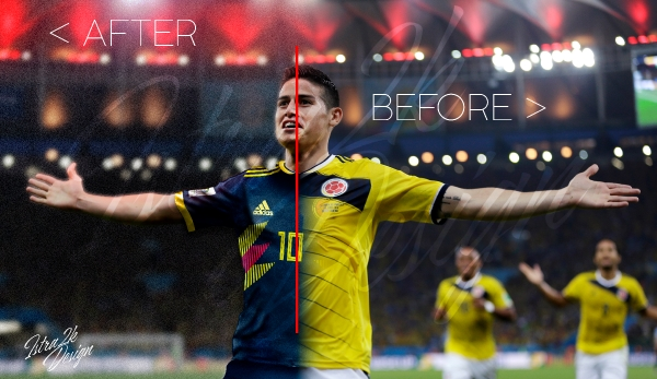 Colombia - Away shirt - Before and After