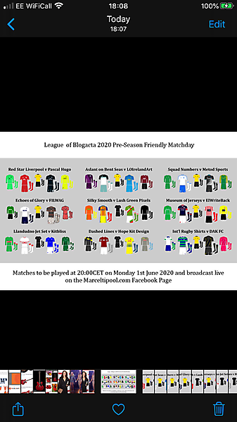 The League of Blogacta 2020 Friendly Matchday TONIGHT!