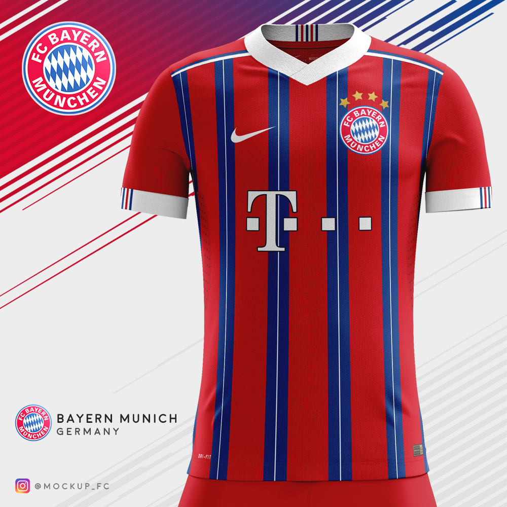 buy online c4cf9 2314f Bayern Munich x Nike - Home Kit