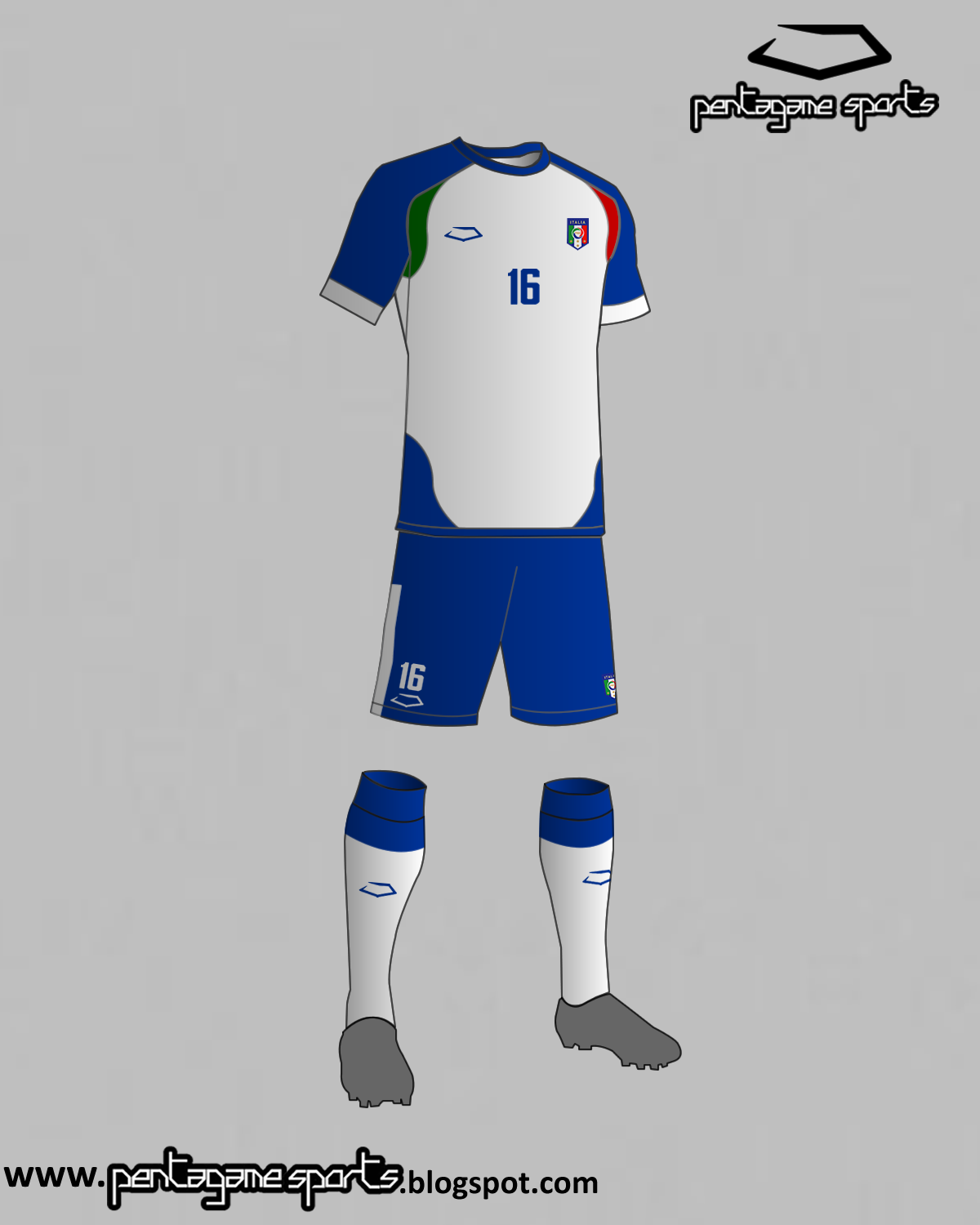 buy online 7f99a e67e5 Italy National Football Team Away Kit 2016