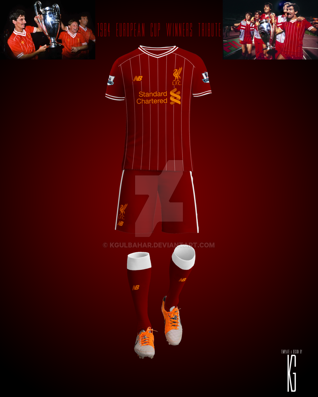 1b7a3b48e Liverpool FC 1984 European Cup Winners Tribute Kit