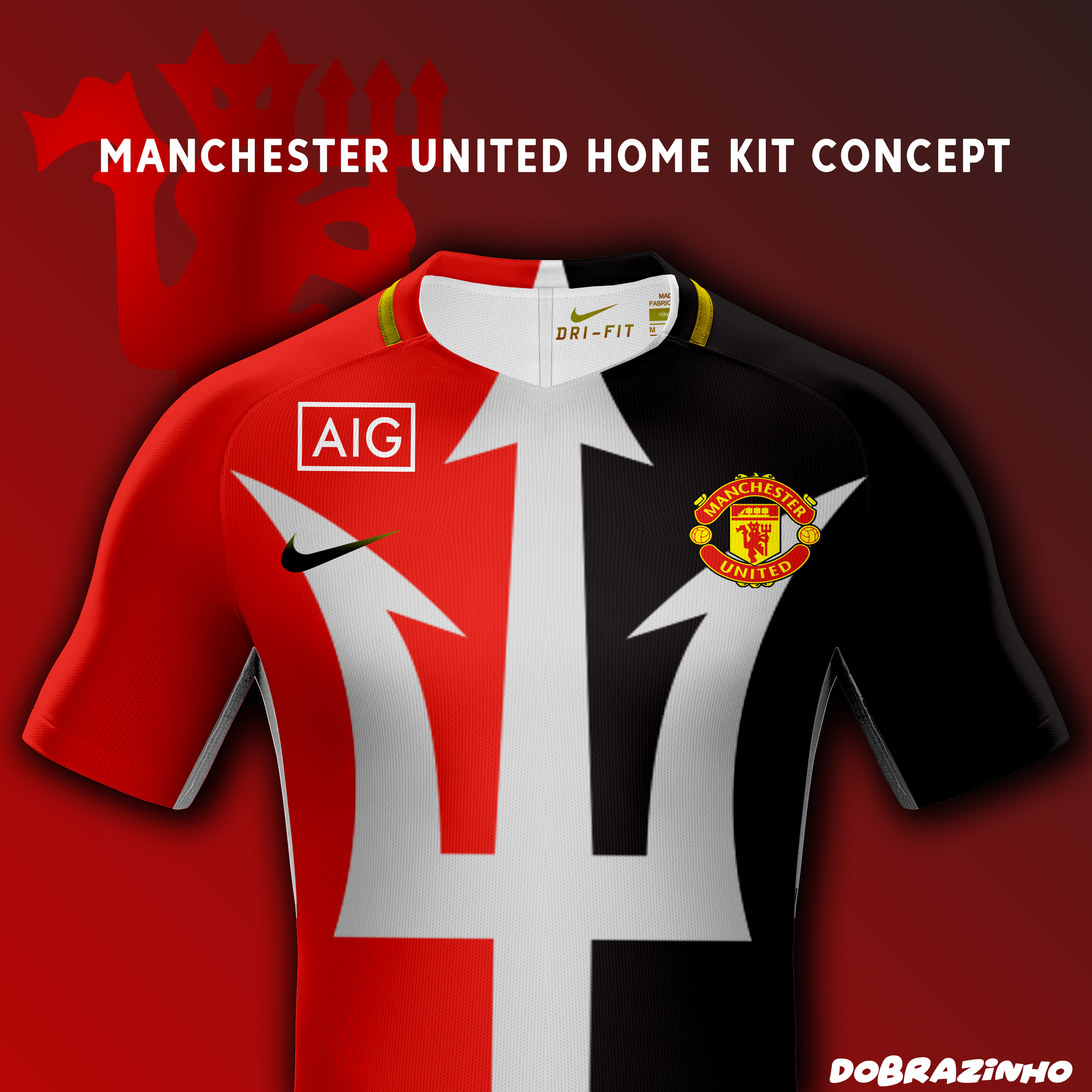 big sale d5b1d 72cc5 Manchester United Home Kit concept x Nike x AIG