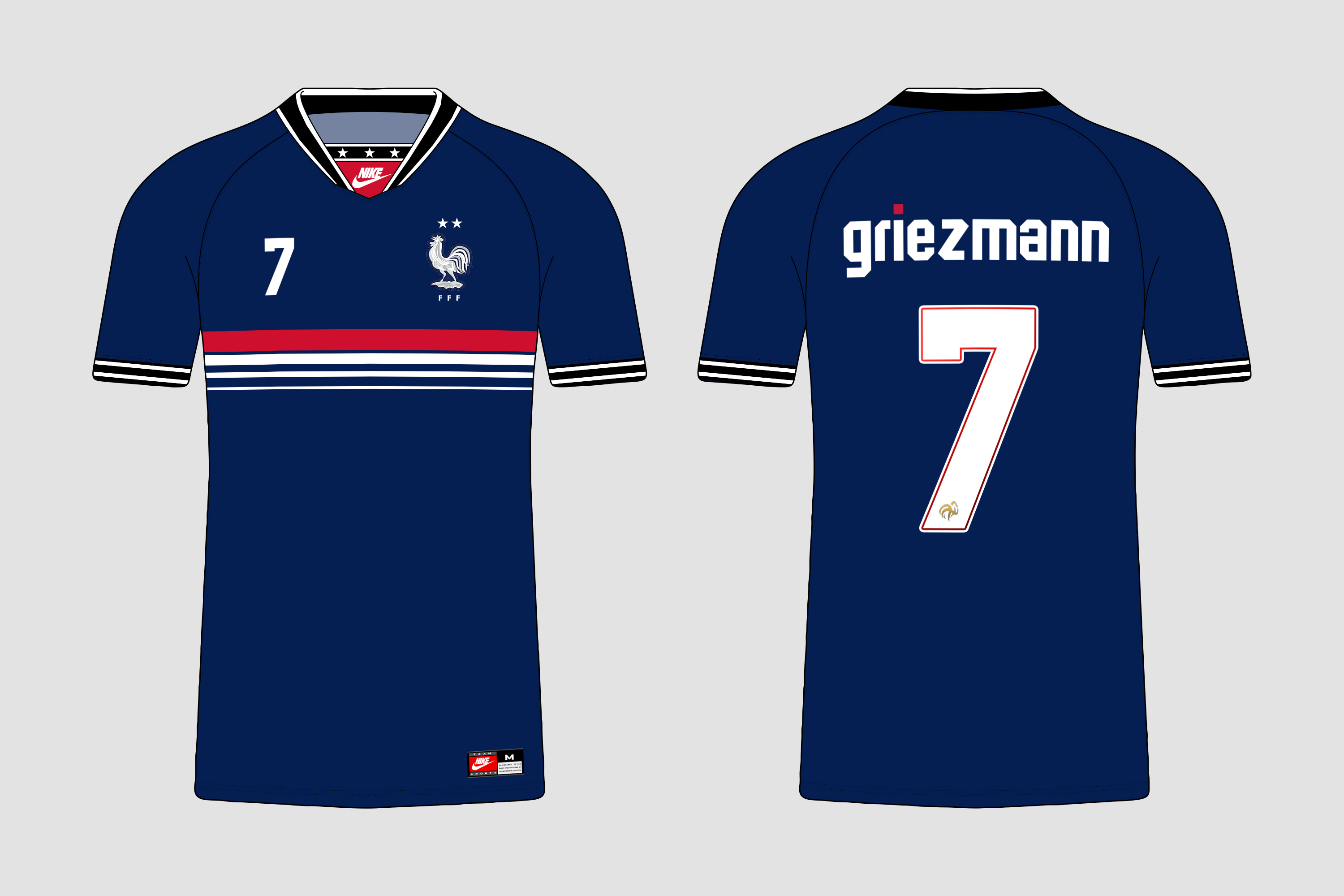 best service 7543f 904d6 Nike France 1994-2019 Home Retroconcept