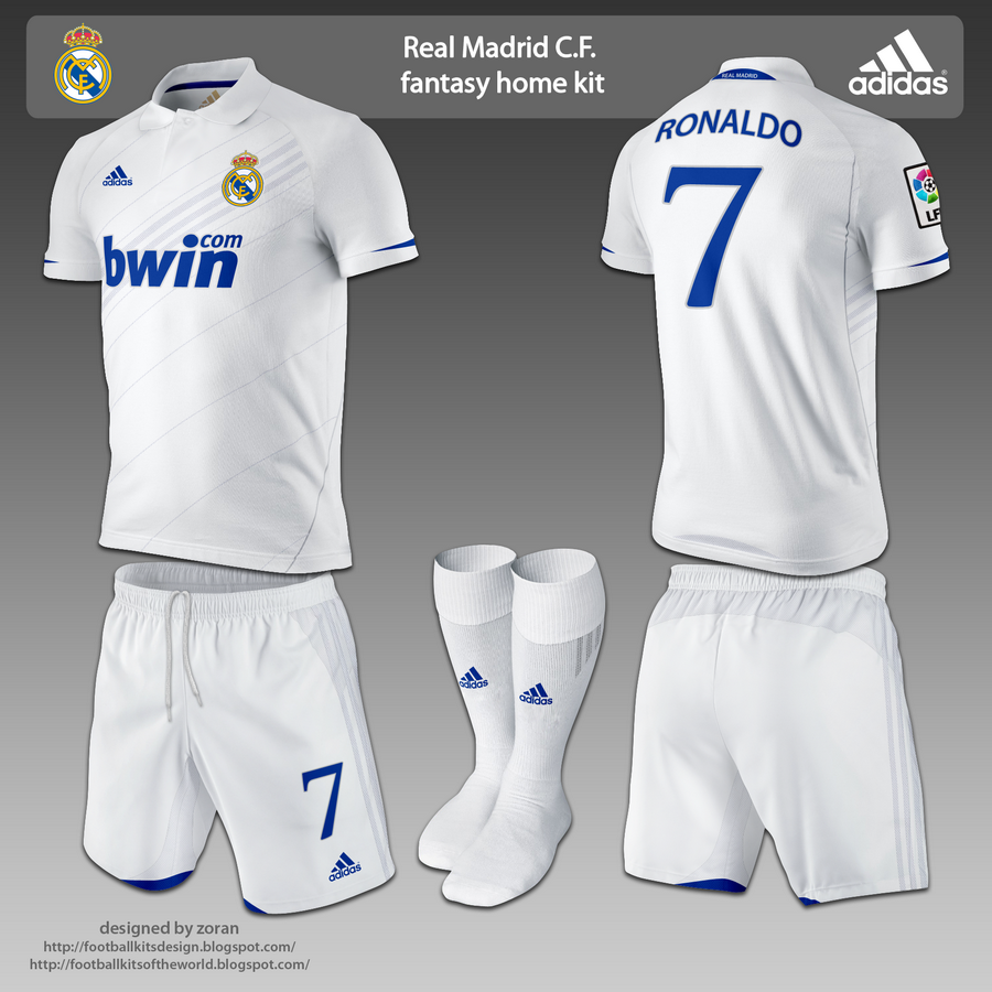 low priced 7e102 f8e1f Real Madrid fantasy home and away