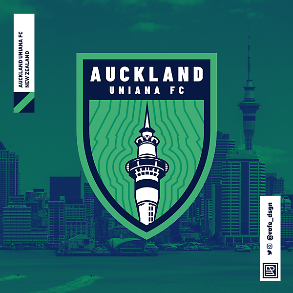 Auckland Uniana Football Club Branding By @rofe_dsgn
