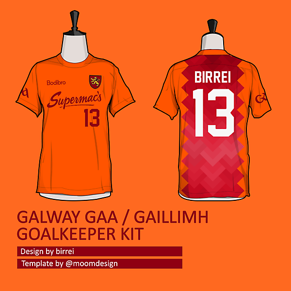 Galway GAA GK kit *SELECT NAME TEAMWEAR*