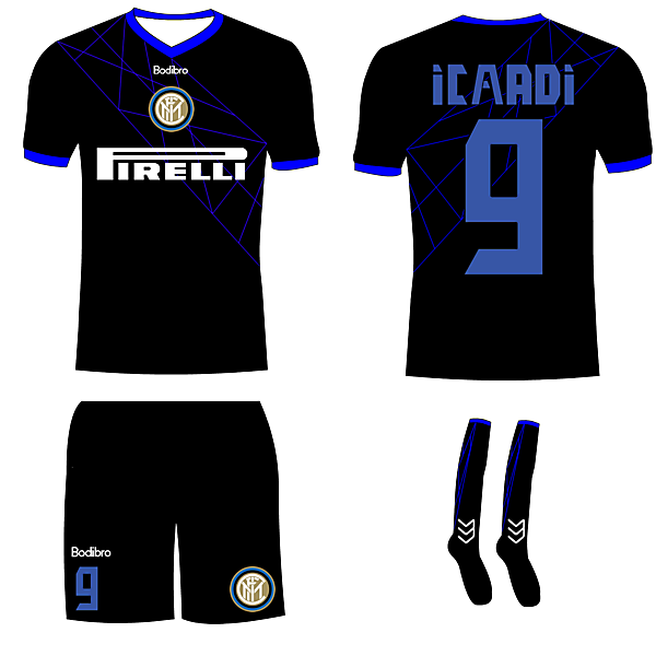 Inter Milan Away- Bodibro Hazard Template