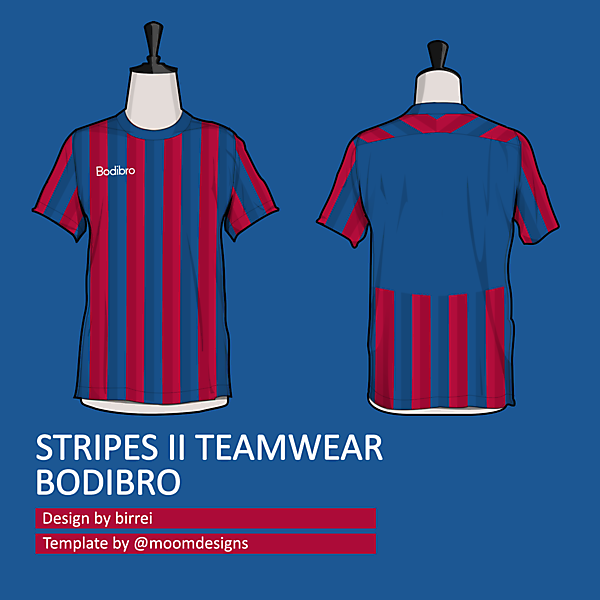 STRIPES II TEAMWEAR (note the double stripes)
