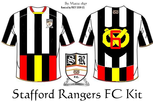 Stafford Rangers  BORO KIT home