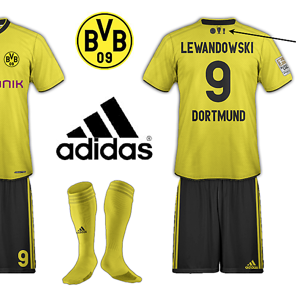Borussia Dortmund Treble Winning Kit Example