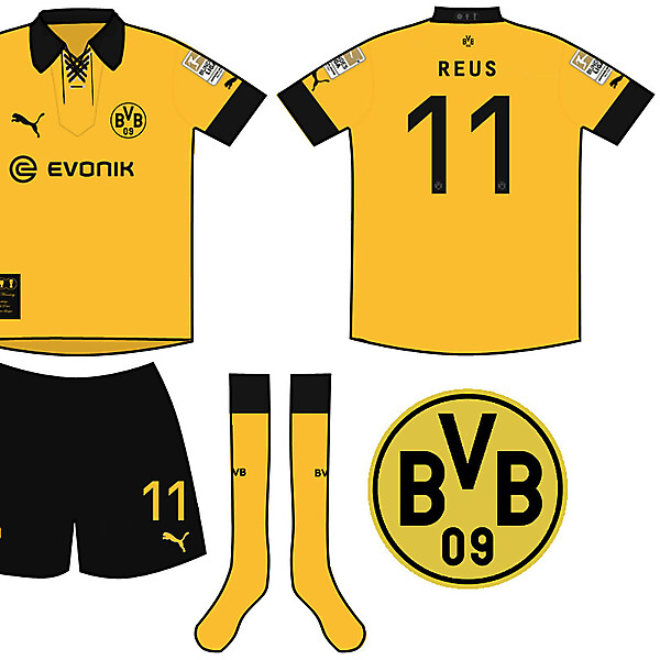Borussia Dortmund Treble Winning Home Kit
