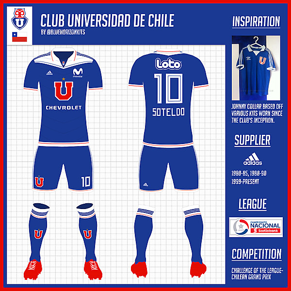 Club Universidad de Chile Home Kit