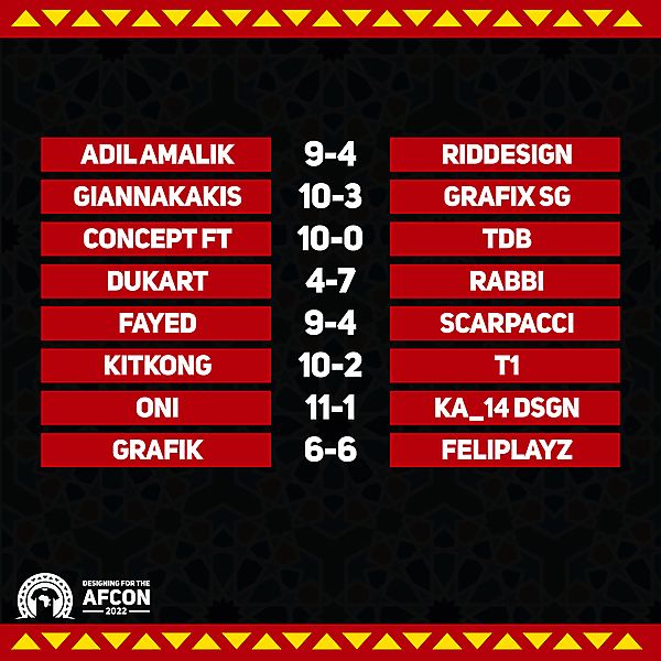 Matchweek 3 results