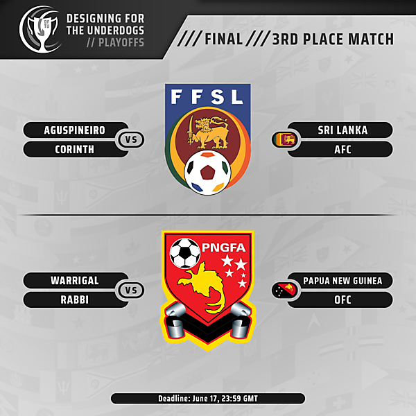 Final and 3rd Place Matches