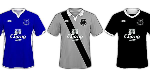 Umbro Everton 2014/15 Home/Away/Third Kits