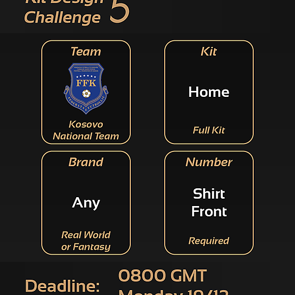 Kit Design Challenge: 5 - Kosovo Home Kit