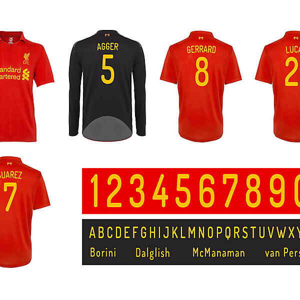 Liverpool FC Font Competition