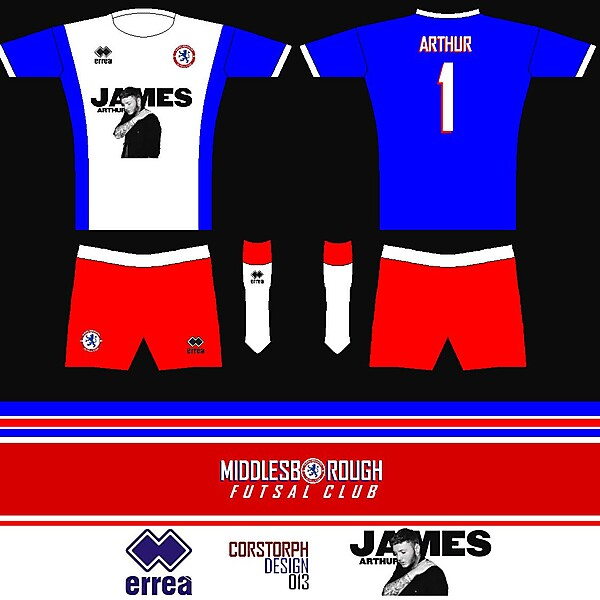 Middlesbrough Futsal - James Arthur Kit