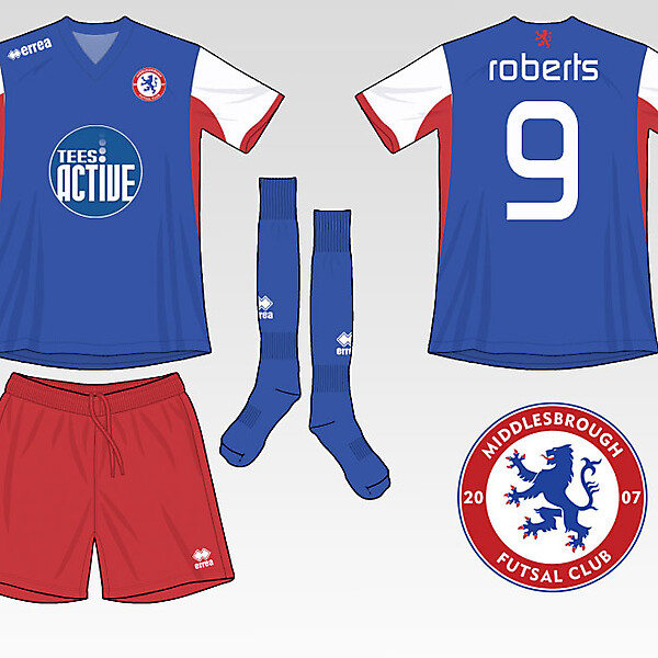 Middlesbrough Futsal Club Kit
