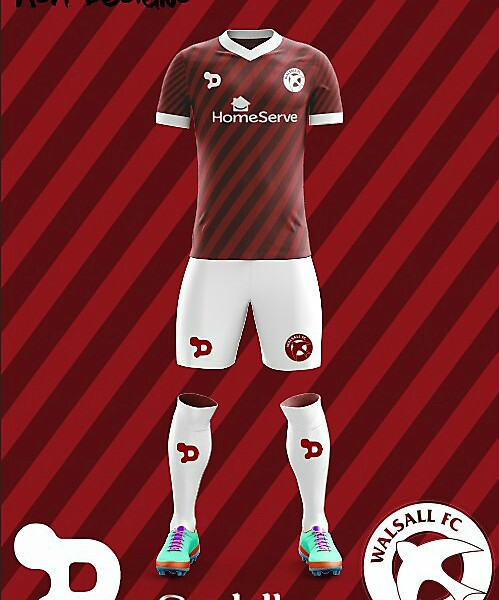 Walsall FC Dryworld Home kit 2018