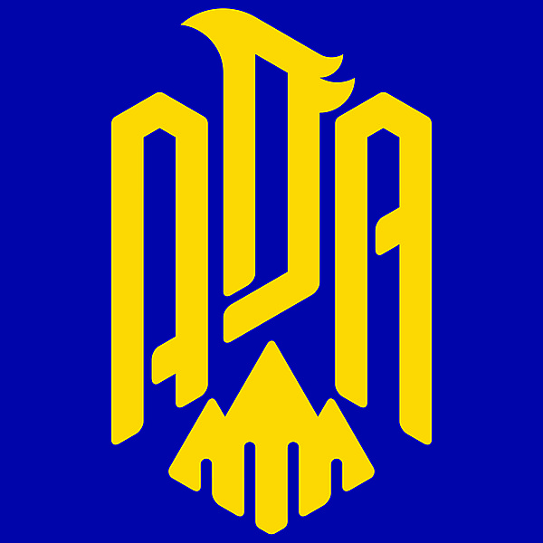 AD Alcorcón Logo (Reversed Color)
