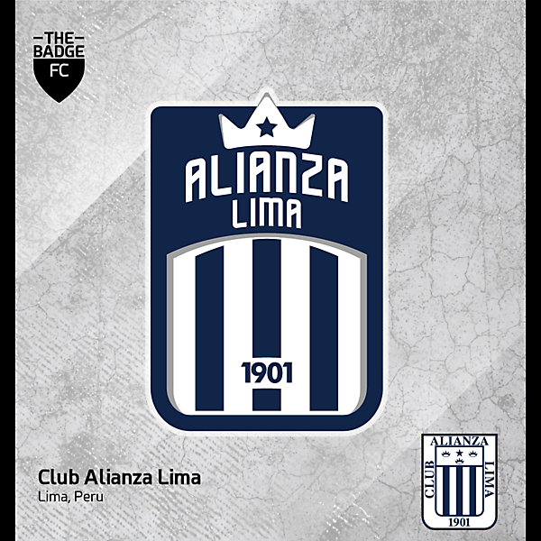 Alianza Lima Badge Redesign