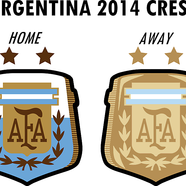 Argentina World Cup 2014 Crest Home & Away