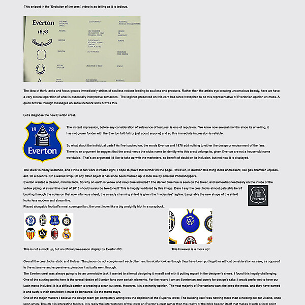 Everton Crest 2014 + Thoughts