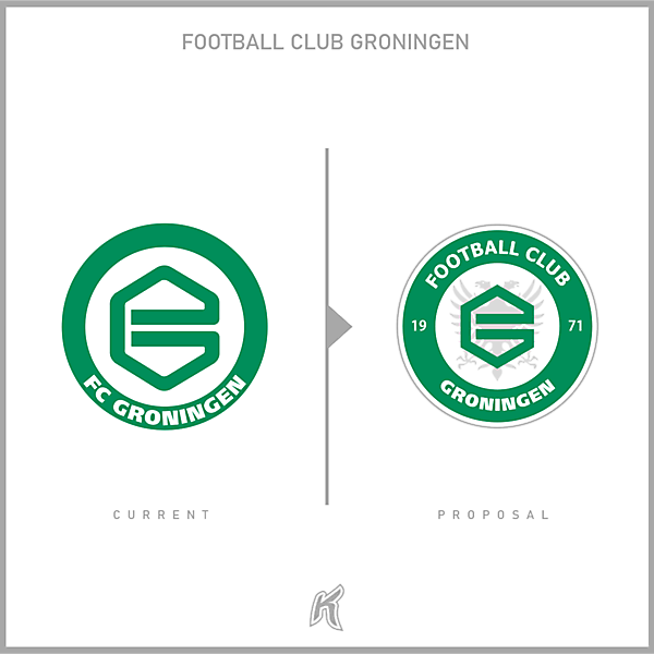 Football Club Groningen Logo Redesign