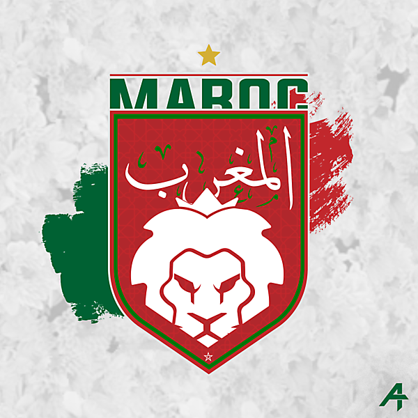 Morocco team logo redesign