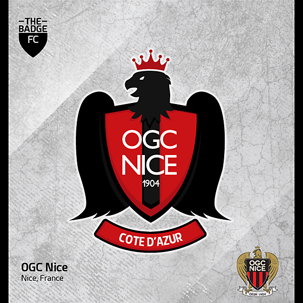 OGC Nice Badge Redesign Concept