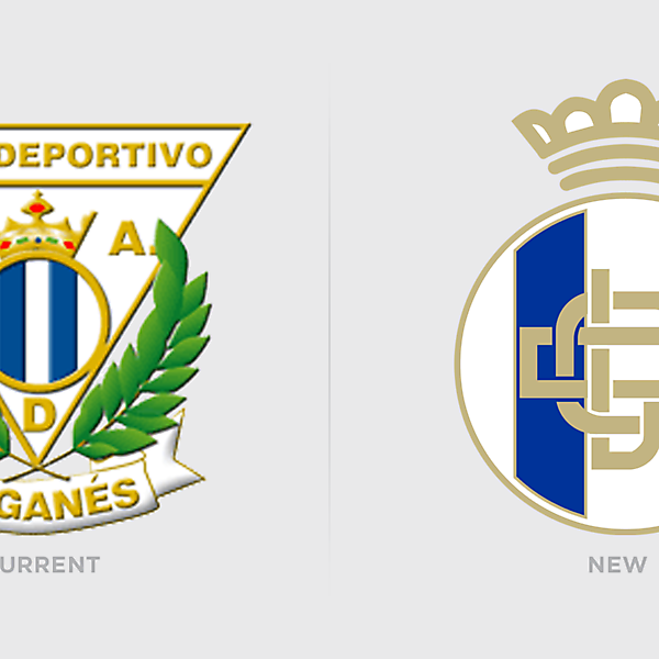 Updated CD Leganes Redesign Logo